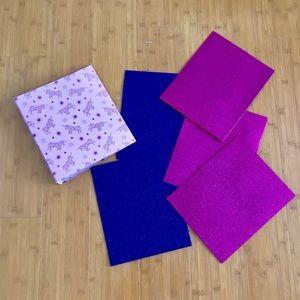 Other - Glitter Folders & Unicorn Binder